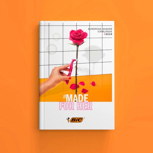 Creation visuel de couverture catalogue produit