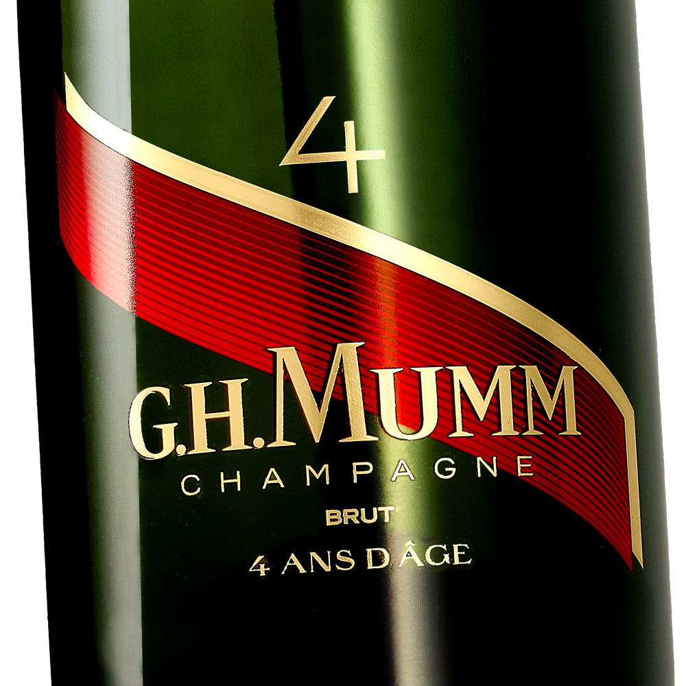 Packshot Photo Bouteille champagne Mumm
